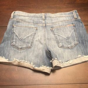 Hudson jean shorts.  Inseam 3 inches when cuffed